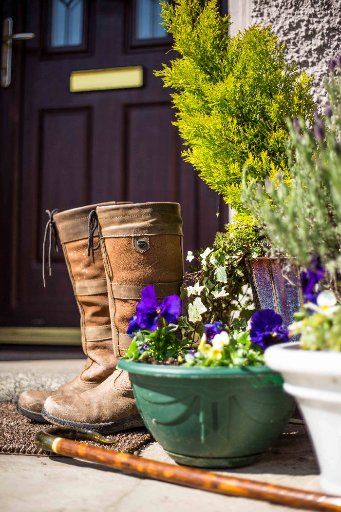 walkingin winter- boots ready
