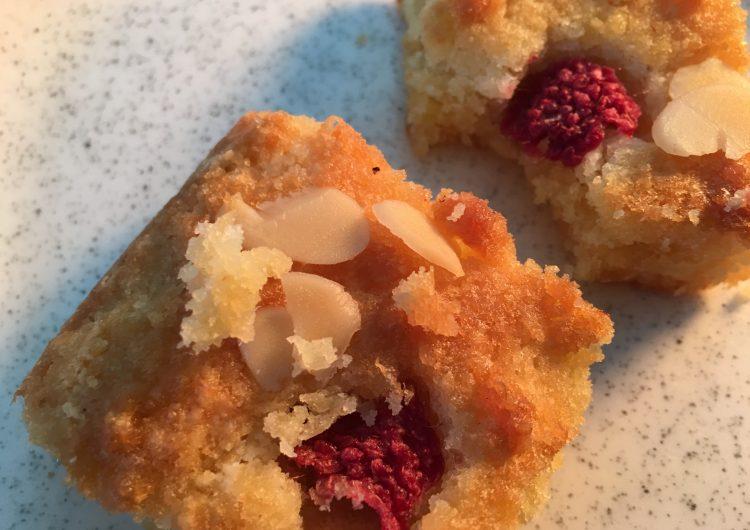 Alomnd & Raspberry Cake Bites
