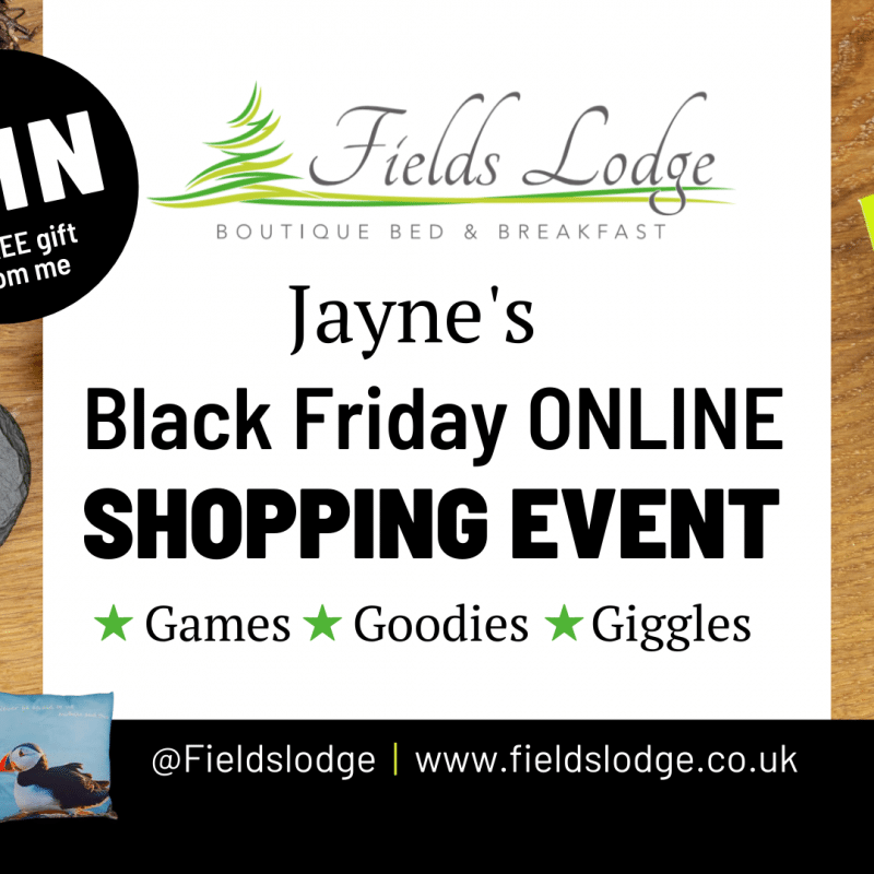 Fields Lodge Online Shopping Event